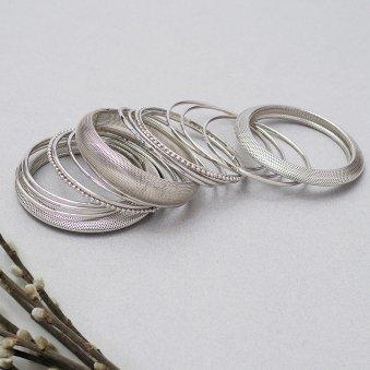 Silver Antique Bangles