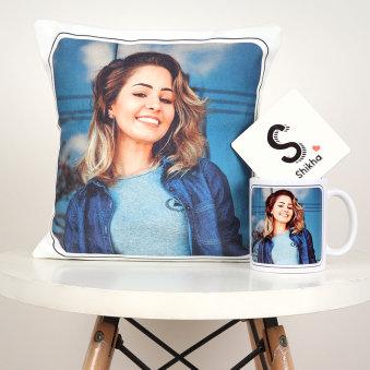 Sister Cushion Mug And Coaster