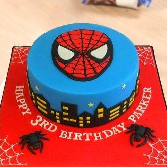 Spider Man Birthday Fondant Cake