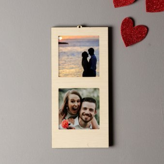 Square Personalised Hanging Photo Frame