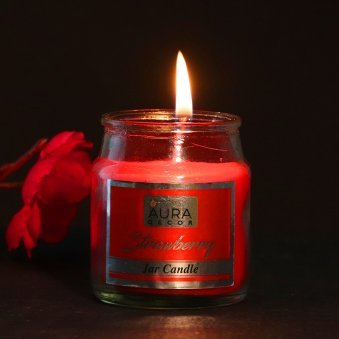 Zoom view of Premium Strawberry Jar Candle Gift