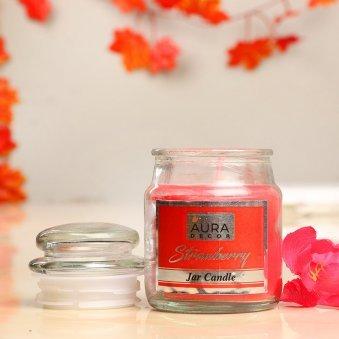 Premium Fragrance Gift Set of Strawberry Jar Candle
