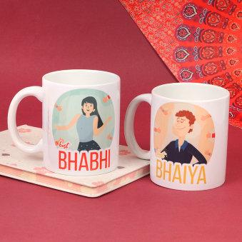Stylish Bhaiya Bhabhi Mugs