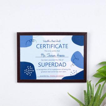 Superdad Certificate