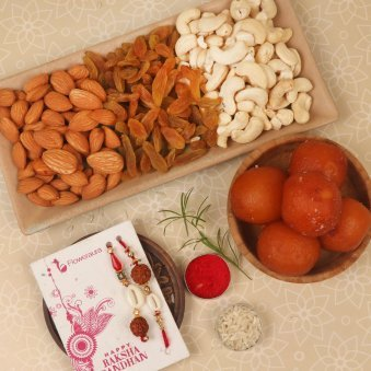 Sweet N Healthy Bhaiya Bhabhi Rakhi Combo