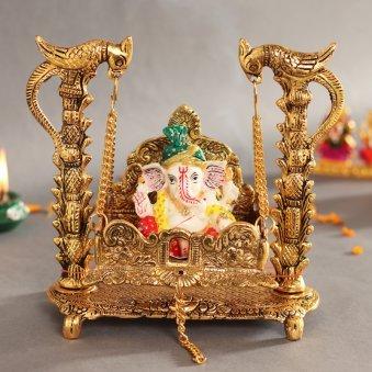 Swinging Metal Ganesha