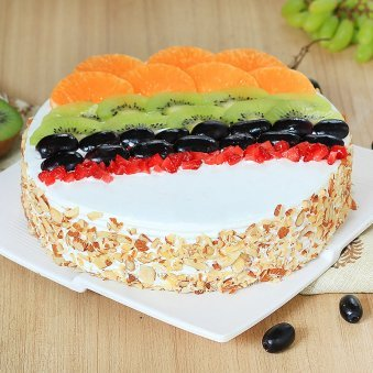 Tantalizing Delight - Fruit Cake with Normal View