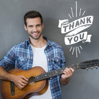 Thank You With Guitar Performance
