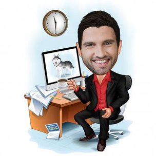 Caricature For Corporate Guy