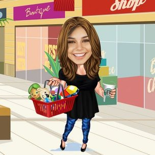Caricature For Shopping Lover