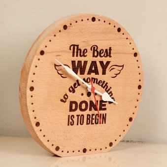 Time Is Everything - Engraved Table Clock Side View