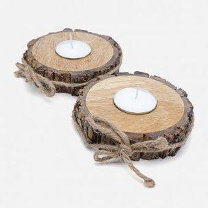 Tree Bark Tealight Holders