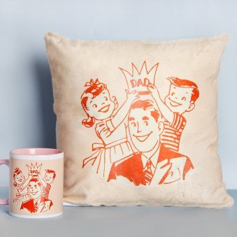 Combo for Father Consisting of Mug and Cushion
