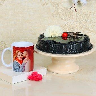 Truffle Cake Photo Mug Combo