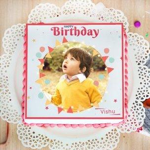 Celestial Beauty photo cake for birthday