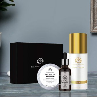 Urbane Man Styling Kit - Combo of Beard oil with Machismo Styling Cream and Blanc Body perfume