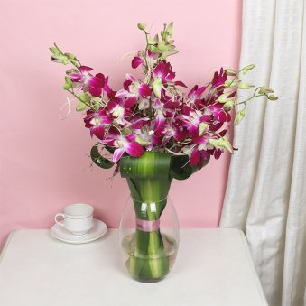 Valentines Day Orchid Bouquet