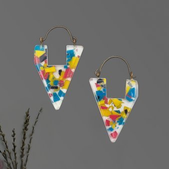 Vibrant Geometric Drop Earrings