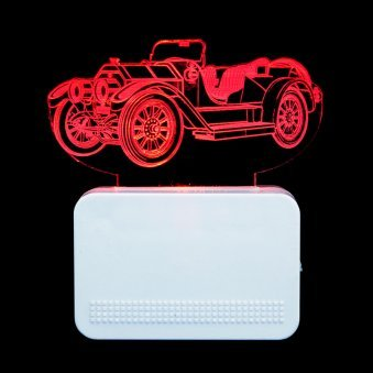 Vintage Car 3D Night Lamp