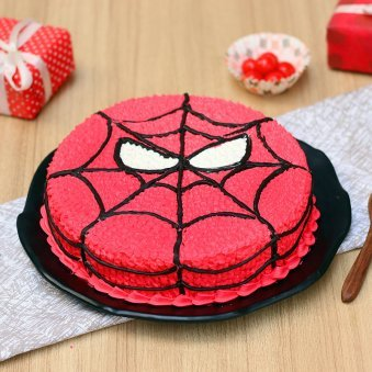 Spiderman Cartoon Cake