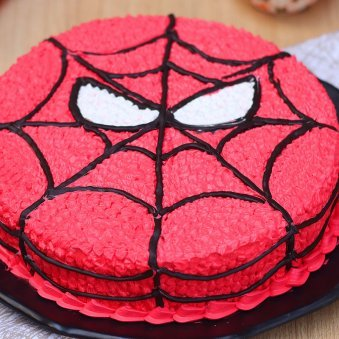 Zoom view of Spiderman Cartoon Birthday Cake
