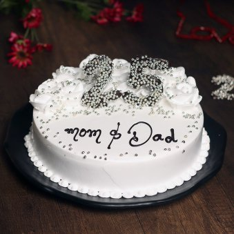 25th Anniversary Cake for Mom and Dad