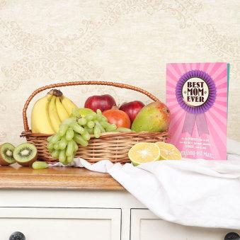 Wooden Fruit Basket N Card