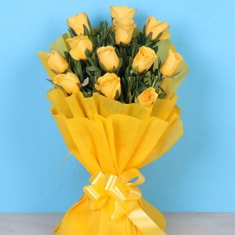 Yellow Rose Rakhi Combo