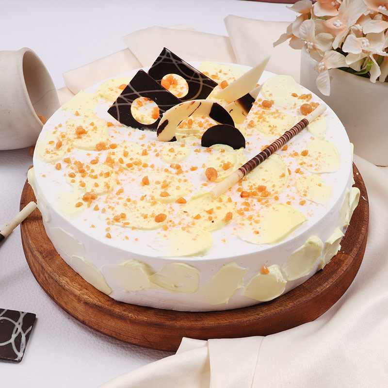 Round Buttery Butterscotch Cake