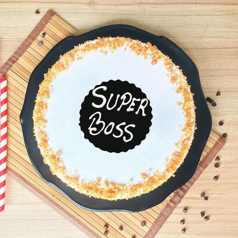 Butterscotch Cake for Super Boss