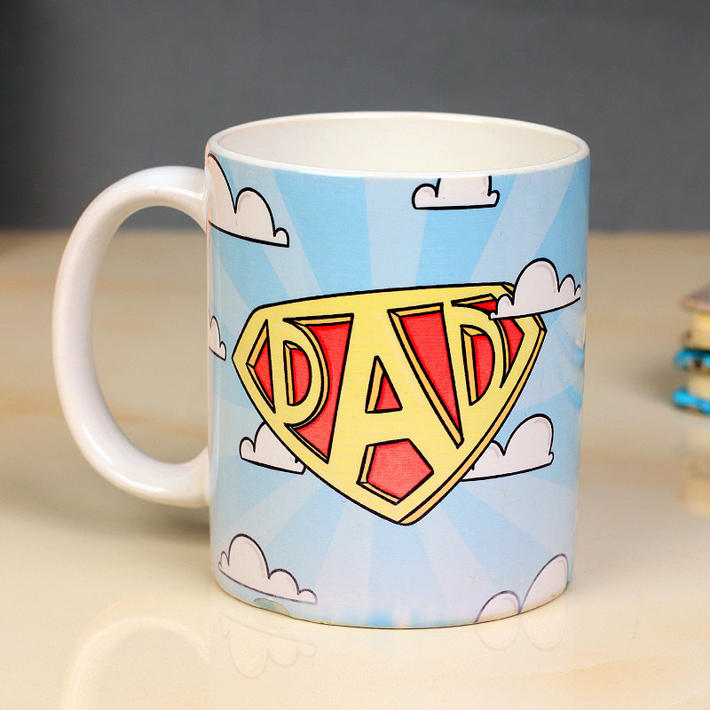 Super Dad Fathers Day Mug - Personalised Gift for Dad