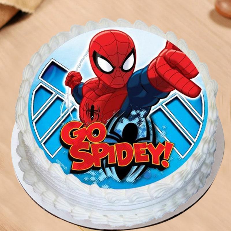 Spiderman Poster Cake