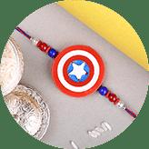 Send Superhero rakhi online to India