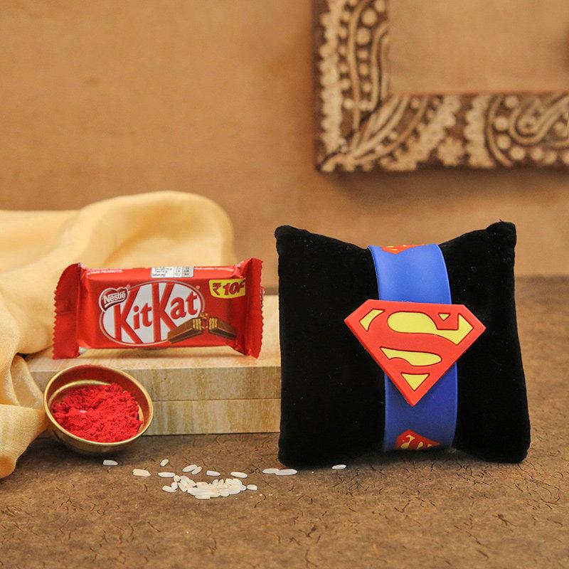 Superman Kitkat Rakhi Pack