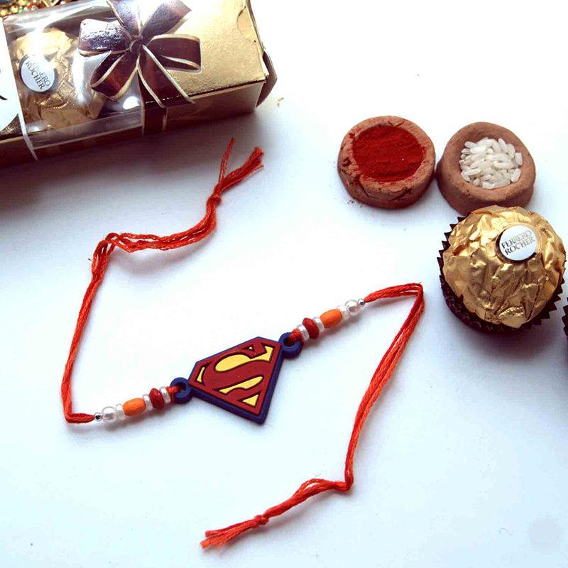Superman Rakhi Rocher Combo