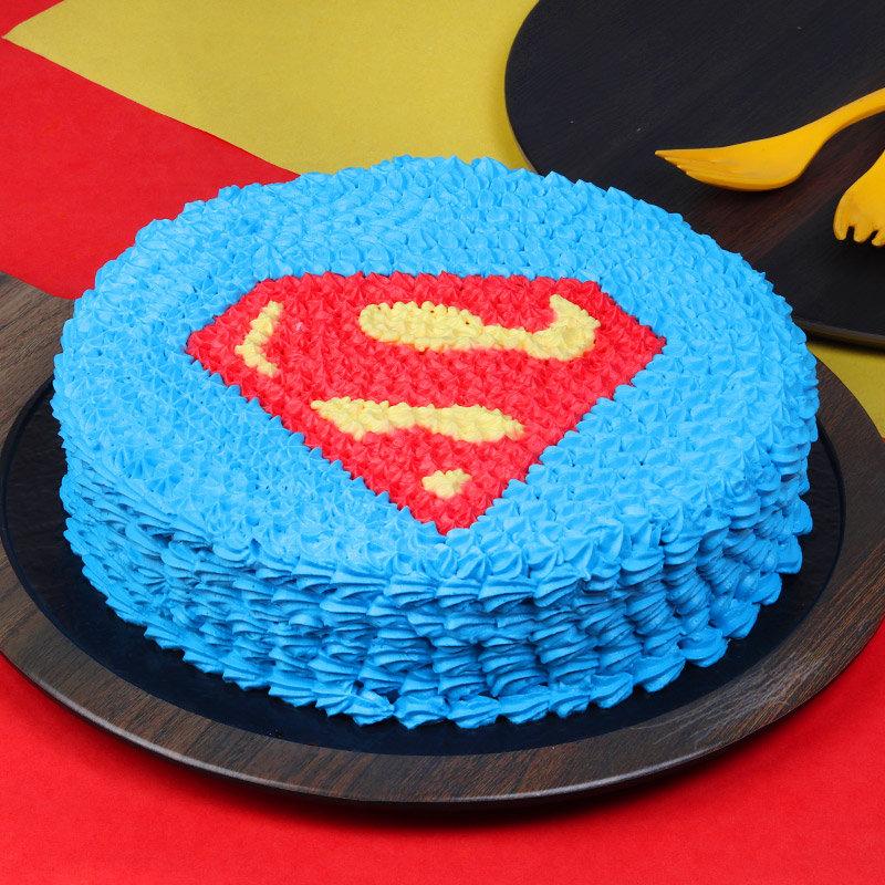 Superman Designer Cake
