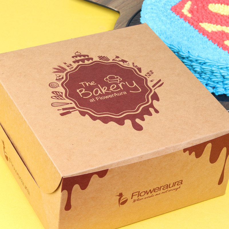Superman Designer Cake in a Box