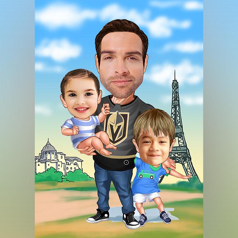 Supremo Daddy Caricature