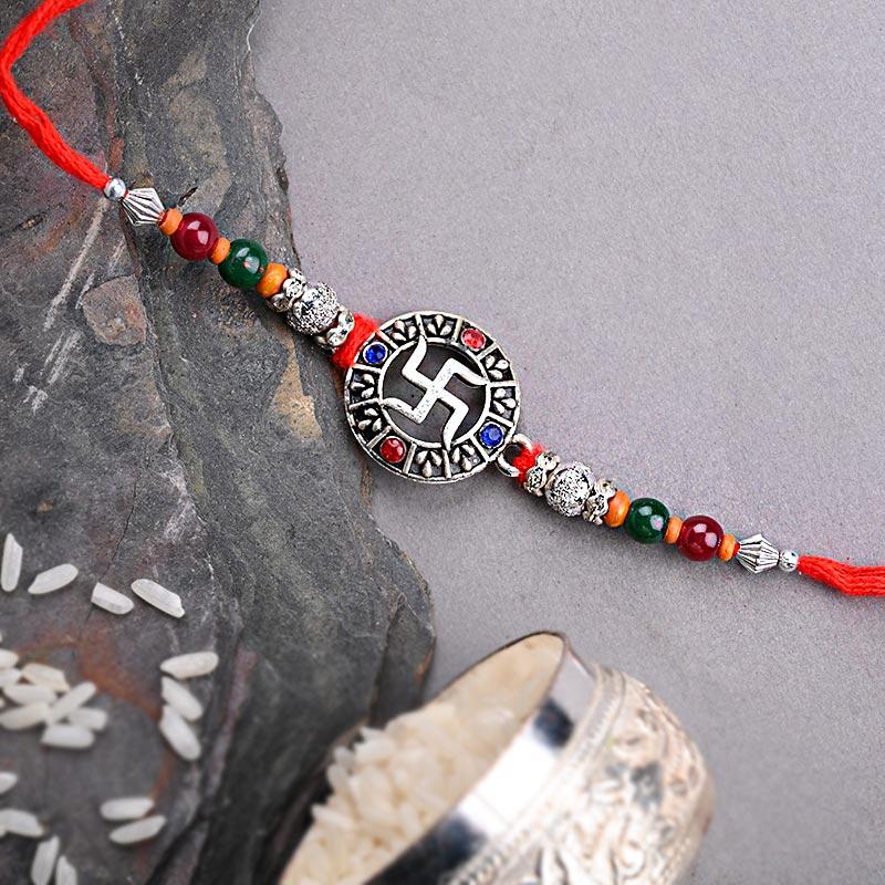 Swastik Designer Rakhi - Swastik Rakhi Online Delivery