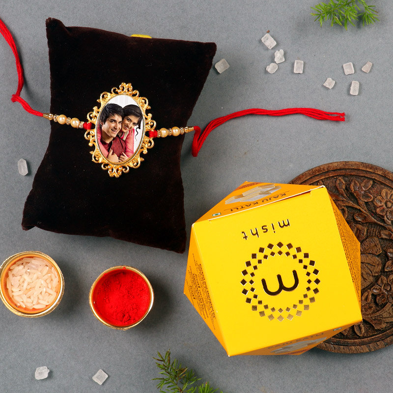 Sweet Box With Mirror Rakhi Combo