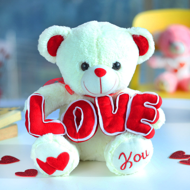 Sweet Cuddly Teddy Bear for Valentine Day