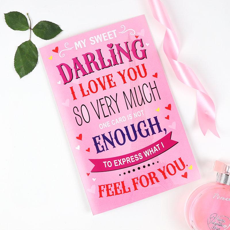 Sweet Darling Valentine Greeting Card