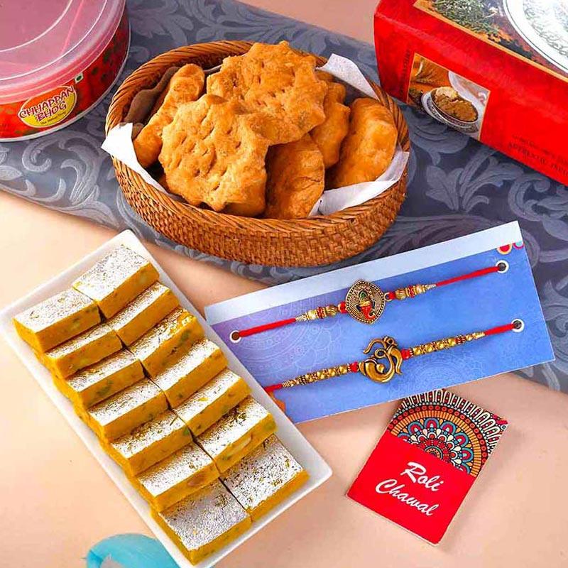 Sweet Divinity Rakhi Combo