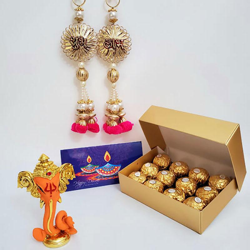 Sweet Ganesha Diwali Greetings Combo