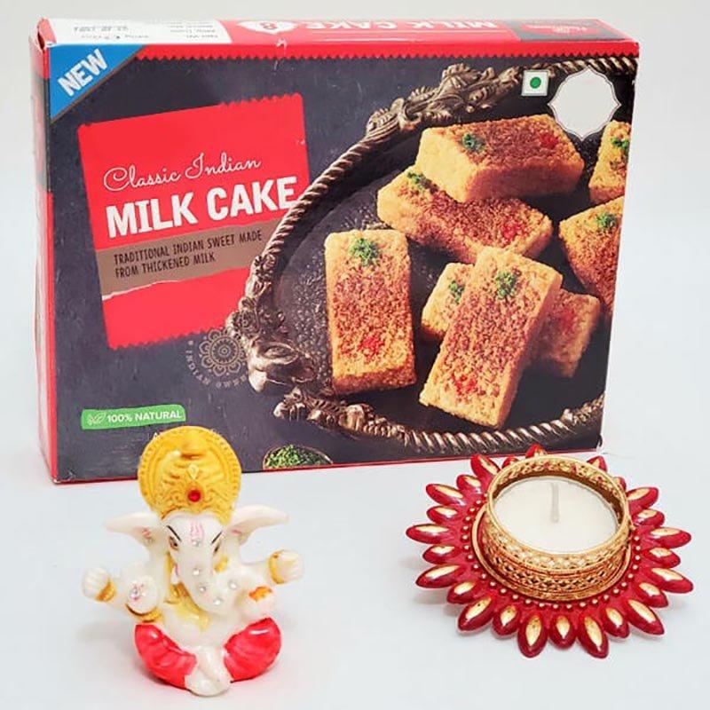 Sweet Ganesha Diya Diwali Combo