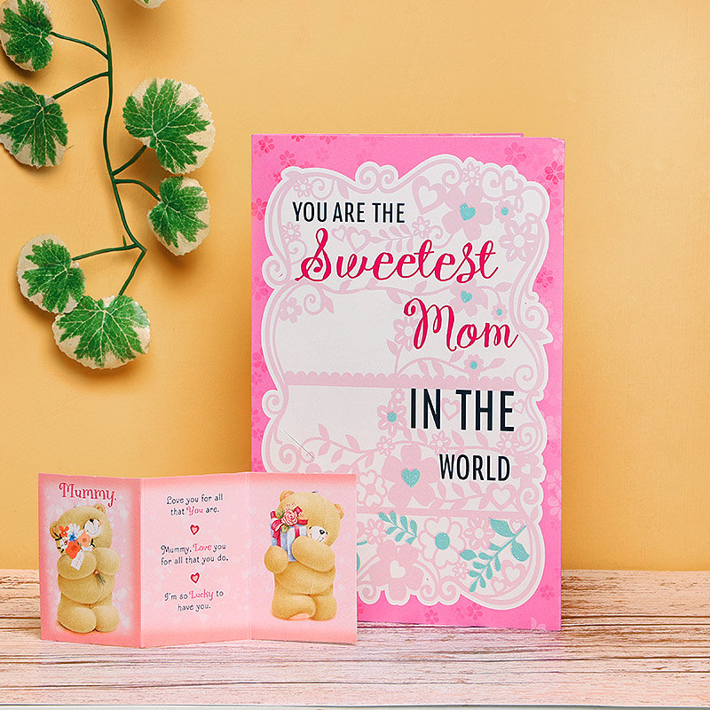 Sweet Mom With Cuddly Image