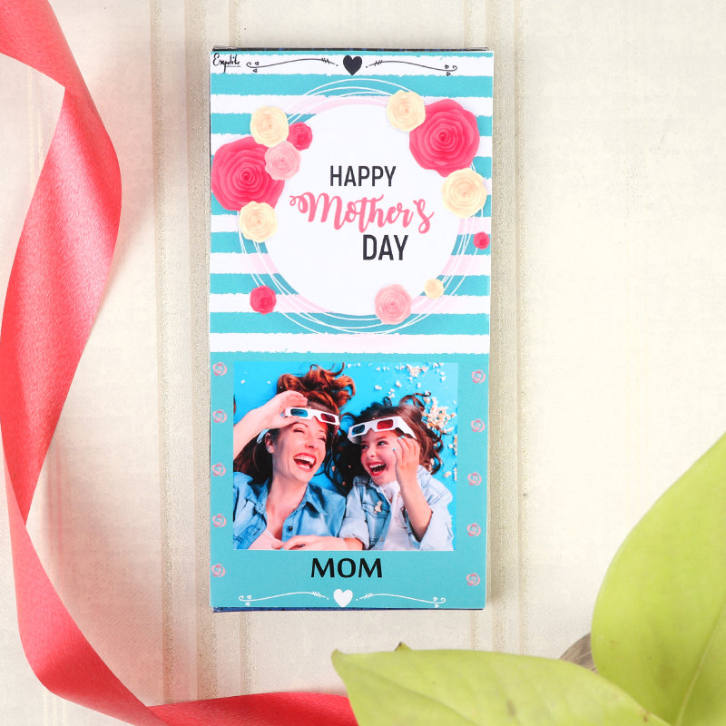 Sweet Mothers Day Surprise and Personalised Chocolate Bar