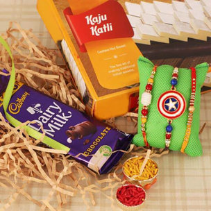 Sweet N Chocolaty Rakhi Combo