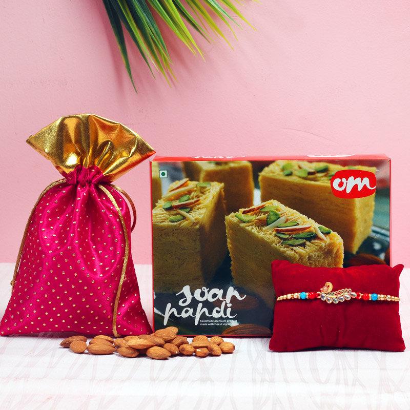 Sweet Nutty Rakhi Combo
