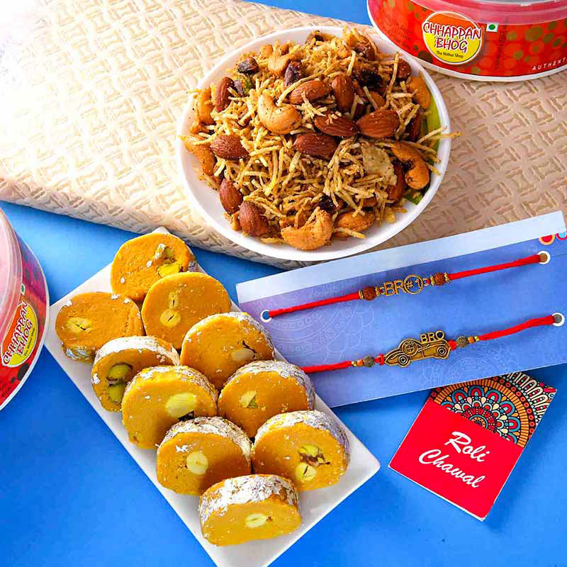 Sweet Salty Rakhi Set